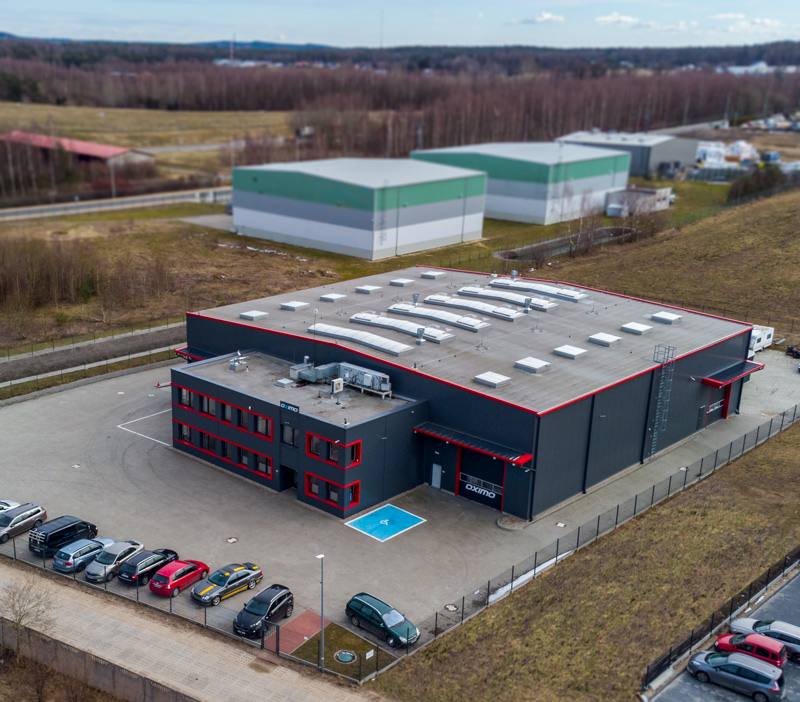 Oximo the company's headquarters are located at Lezyce near Gdynia in the northern Poland